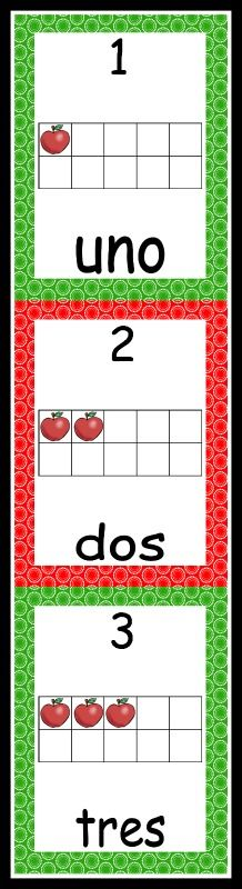 Number Wall 1-20 with 10 frames - 2 different sizes: 6.8 x 4.5 inches and 7.5 x 10 inches. These number cards are a great way to reinforce number recognition and object-number correspondence.