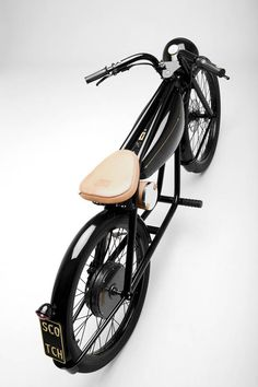 Ebike Bicicletta Provocatore for Scotch&Soda Vintage Bikes, Vintage Motorcycles, Cars And Motorcycles, Vintage Vespa, Electric Moped, Electric Cars, Velo Cargo, Motorised Bike, Moto Cafe