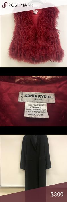 Sonia Rykiel Vest Sonia Rykiel natural fur vest.  Great condition. Sonia Rykiel Jackets & Coats Vests
