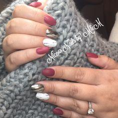 Pronails, russianrose chrome, marblenails Nice nails by M&M