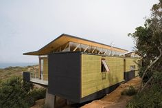Image 21 of 43 from gallery of 21 Detailed Construction Sections for Wood Structures. The Guide's Refuge in Melimoyu / Armando Montero & Diego Labbé Open Shed, Brick Construction, Wood Architecture, Wood Structure, Compact Living, Garden Office, Exterior Design, Outdoor Structures, Deco