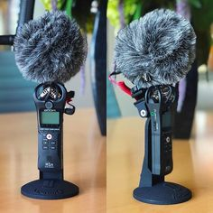 When im on location and need a quick voice over. The new #Zoom #H1n with the @rodemic #VideoMicro is a great sounding combination. Instead of using built in stereo mics we have better focused sound and sound rejection. The trick is mounting the mic with the Zoom so we have it here on this prototype stand..