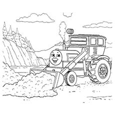 Kids Printable Coloring Page Of Thomas And Friends On A