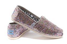 Toms Bright Multi Womens Glitter Classics - An Addictive Pinner