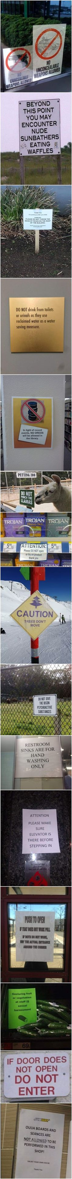 Funny Signs With Stories
