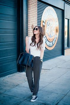 Gold Hawk: where comfort meets class! See how Catherine Sheppard rocks the sporty chic look on her blog, The Life Styled! http://www.thelifestyledblog.com/casual-luxe/