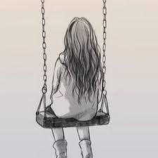 Image result for girl on swing sketch
