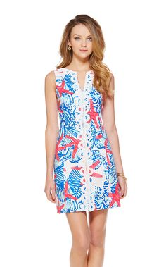 How cute is this Lilly Pulitzer Janice Shift Dress in She She Shells?!