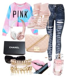 """""""Pink"""" by lizwhiteford on Polyvore featuring Chicnova Fashion, Forever 21, Chanel, Fiebiger, Elie Saab and River Island"""