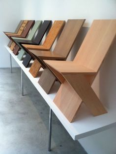 Simplicity, use of natural material, very neat, very modern geometric design creates some extremely cool chairs.