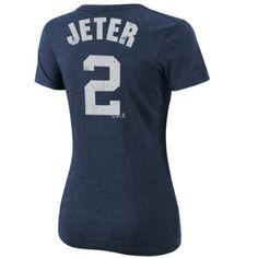 Amazon.com: MLB Derek Jeter New York Yankees Women's Short Sleeve Crew Neck Tee: Clothing Small