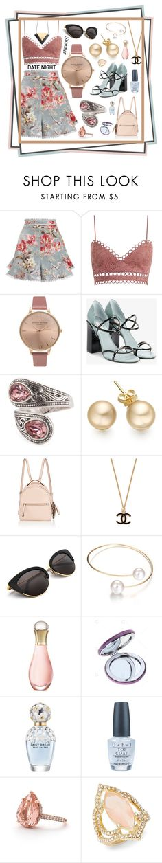 """Summer Date Night"" by shadows-past-midnight ❤ liked on Polyvore featuring Zimmermann, Olivia Burton, Fabrizio Viti, Fendi, Christian Dior, Marc Jacobs, OPI and Kate Spade"