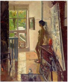 Ken Howard, Letitia, Summer Morning, 2005 Painting Collage, Figure Painting, Figure Drawing, Painting & Drawing, English Artists, British Artists, Artists And Models, Abstract Painters, Art And Illustration