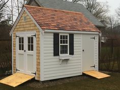 Pine Harbor creates high quality sheds and shed kits, New England-style barns and garages, and a variety of products for outdoor living. Shed Doors, Shed Kits, New England Style, She Sheds, Small Buildings, Tool Sheds, Post And Beam, Shed Storage, Outdoor Living