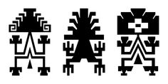 simbolo mapuche - Buscar con Google Tribal Images, Tribal Art, Paper Bead Jewelry, Paper Beads, Ethnic Patterns, Loom Patterns, Native American Quotes, Pottery Designs, Glyphs