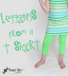 you can make old tshirts into leggings!!