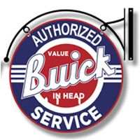 Buick Service Sign with Hanger  http://www.retroplanet.com/PROD/36587