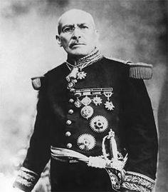 """Victoriano Huerta, el llamado """"Usurpador"""" puesto que, por la fuerza y la traición, tomó la presidencia de México y mandó asesinar a los hermanos Madero y a Pino Suárez."""