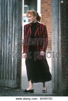Sarah Duchess of York at Upton House School, Windsor, England 1992 - Stock Image