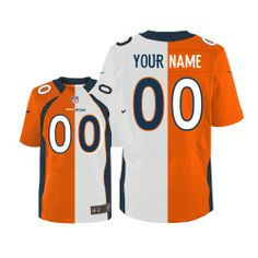 Men s Nike Denver Broncos Customized Limited Team Road Two Tone NFL Jersey  Christmas sale Nike 00f47ade7