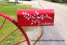 Personalized Mailbox Decal with Branch and by MustardSeedDream