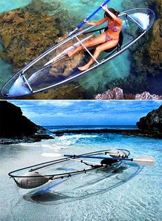 Crystal Clear See-Thru Canoe...canoe with a cool view! I want to try this!
