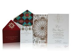 The Circle Room Wedding Invitations, Ceci New York for the Breakers