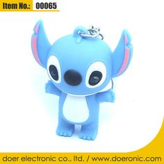 Cartoon Toys Stitch Sound Light Keychain Torch | Doer Electronic the Animals Novelty Gadgets Supplier from China, Welcome to the World of Animals Fun.
