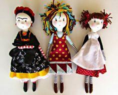 ANACARDIA atelier: As bonecas da Cecília Cecília Murgel Dolls by Anacardia Atelier