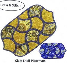 Clam Shell Placemats Pattern by Designs To Share With You