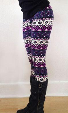 Multicolor Floral Elastic Waist Polyester Legging