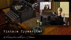 Cloudwalker Sims - Vintage working typewriter #Sims3