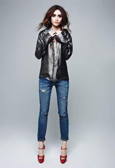 Лили Коллинз — Фотосессия для «Elle» CA 2013 – 3