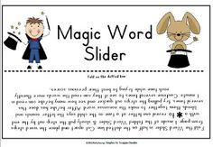 Nonsense Short Vowel Magic Word Slider Fern's Freebie Friday ~ Magic Word Slider