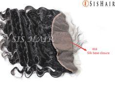"Brazilian Virgin Hair 13*4"" Silk Base Lace Frontal Closure Loose Wave (1)"
