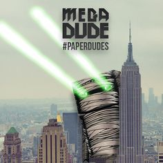 The Mega Dude goes around in New York City