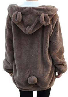 Dragon Honor Unisex Baby Fur Winter Warm Coat Hoodie Fleece Jacket Cute Bear Ear Clothes