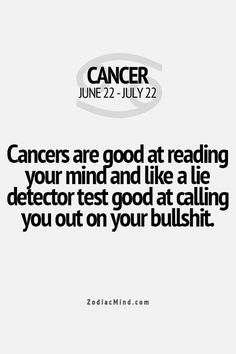 Cancer Is My Sign