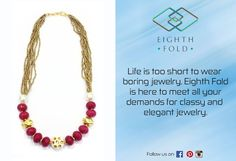 Get your jewelry game up with some exotic statement neck pieces from the House of Eighth Fold. #premiumjewelry #eighthfoldjewelry #handmade #necklaces