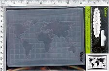 "Darice Embossing Folder-  World Map  #1219-138  5 3/4""  X 4 1/4"""