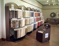 fabric swatches display | Vanguard Point of Purchase Displays / Fabric Racks, Cart