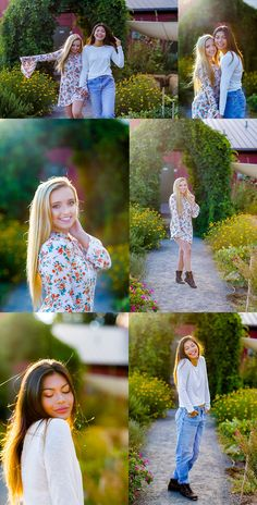nothing beats a bff photoshoot! these cute girls soaked up the sun in front of the camera in portland, oregon