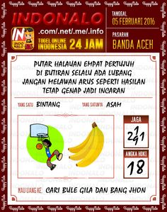 Prediksi Togel Online Indonalo Banda Aceh 5 Februari 2016