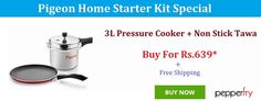 Buy Pigeon Home Starter Kit at Pepperfry Online Coupons, Discount Coupons, Starter Kit, Pigeon, Coupon Codes, Coding, Programming