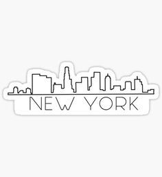 New York Skyline Sticker