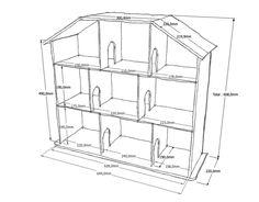 Diy Tuto Maison Barbie Recherche Google Maisons De Poupéesplans - Plan de maison sketchup