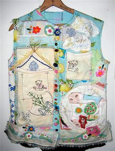TUNIC Top of Many COLORS Wearable Collage ART by mybonny on Etsy, $95.00