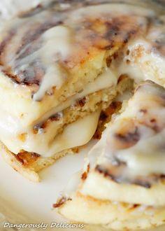 Cinnamon Bun Gluten-Free Pancakes