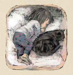 "sugaringseason: Japanese author-illustrator Komako Sakai's ""Hannah's Night"""