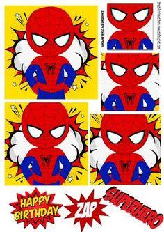 Super hero spider man pyramids on Craftsuprint - Add To Basket!